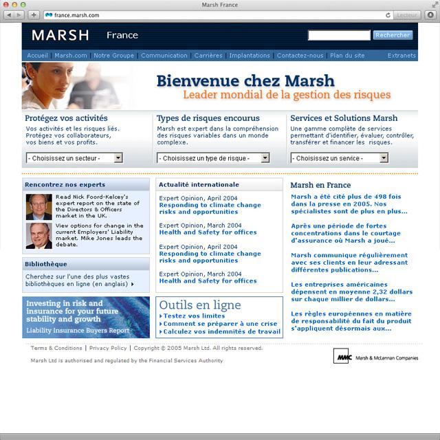Site internet marsh.fr v3