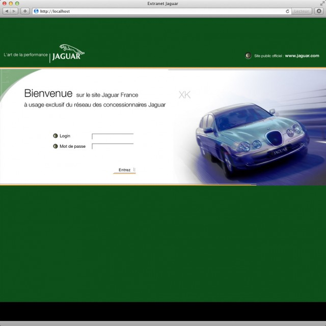 Extranet concessionnaires Jaguar France