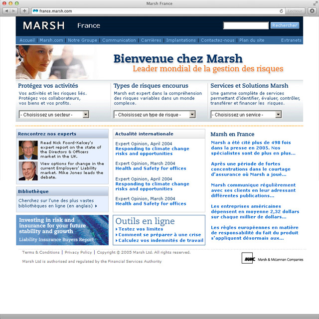 Site internet marsh.fr v3