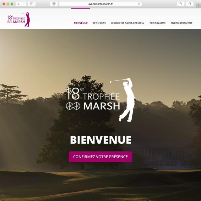 Minisite Trophée de Golf Marsh 2015